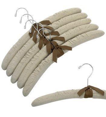17 льняных вешалок с хромированным крючком 1
