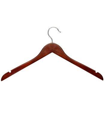 Honey-Can-Do HNG-01213 Базовая вешалка для рубашки с выемками для платья, 5 шт., Cherry1