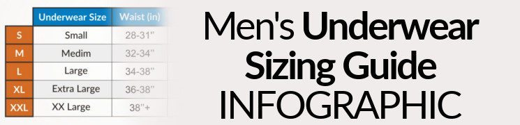 Men's Underwear Sizing Guide Infographic