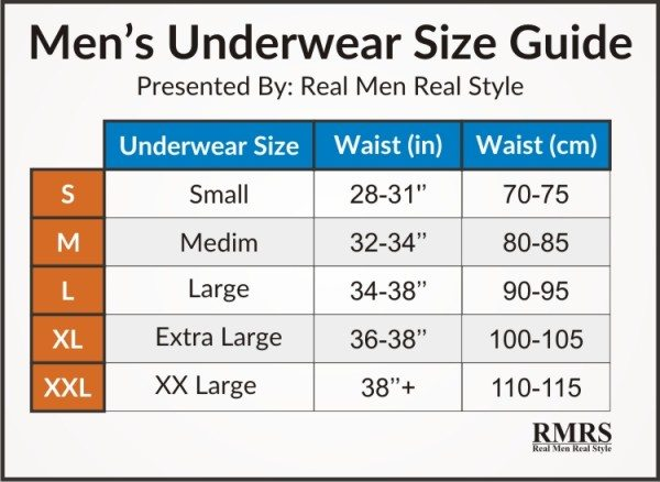 Mens underwear size guide 2