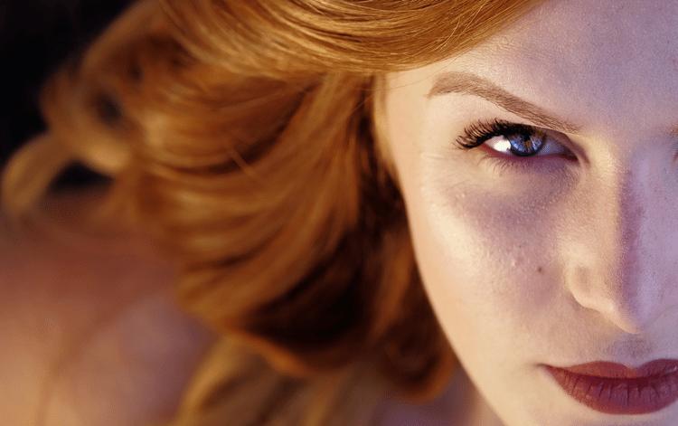 woman eye contact