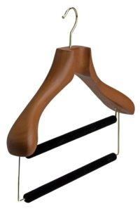 Butler-Luxury-Tailor-Made-Suit-Hanger-with-2-Trouser-Bars-in-Deep-Butterscotch
