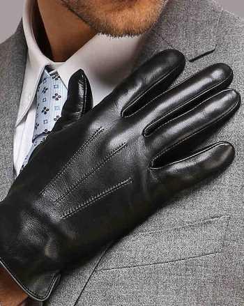 Man Wearing Gloves