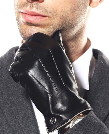 dcf226b49 Men's Dress Gloves. Your basic dress glove is plain black leather ...