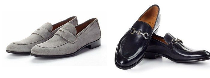 Suede and Leather Loafer