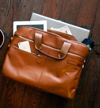 Luxe Leather Briefcase - Genius Pack