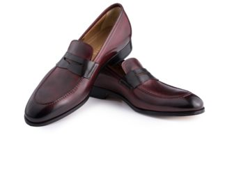 Diamond Cut Leather Shoes Real Leather