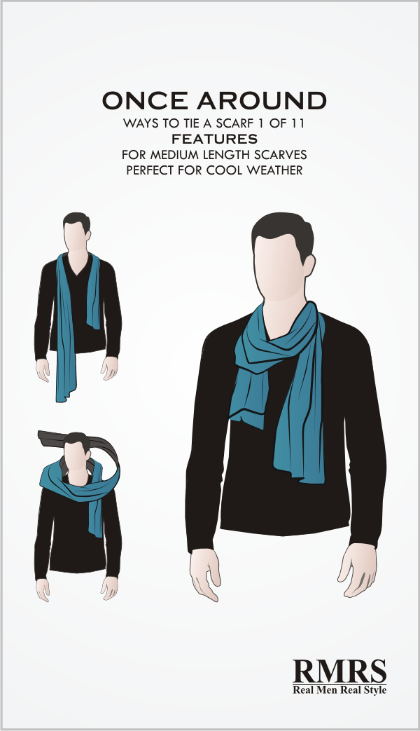How to tie a scarf once around knot infographic ccuart Gallery