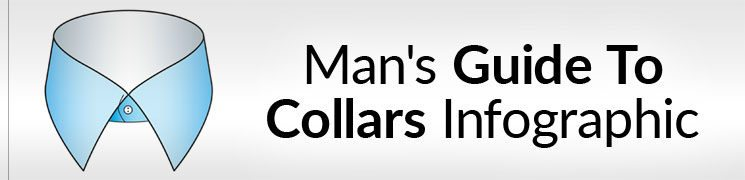 Man's Guide To The Shirt Collar Infographic | Different Types Of Shirt Collars Info Graphic