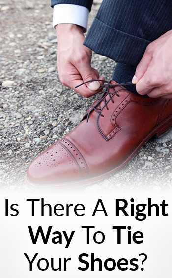 How to tie dress shoes correctly right vs wrong shoe tying video ccuart Choice Image