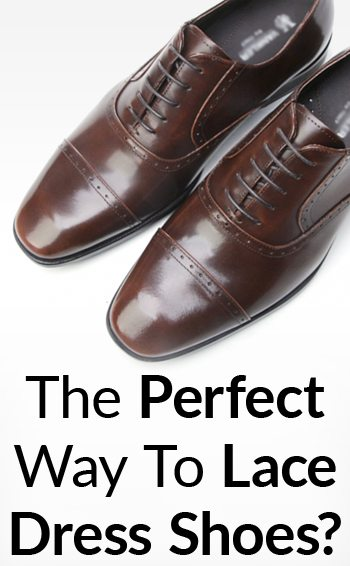 How To Lace Dress Shoes  Holes