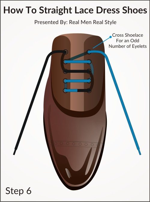 How to straight lace your dress shoe one mistake that ruins how straight lace dress shoes 6 ccuart Choice Image