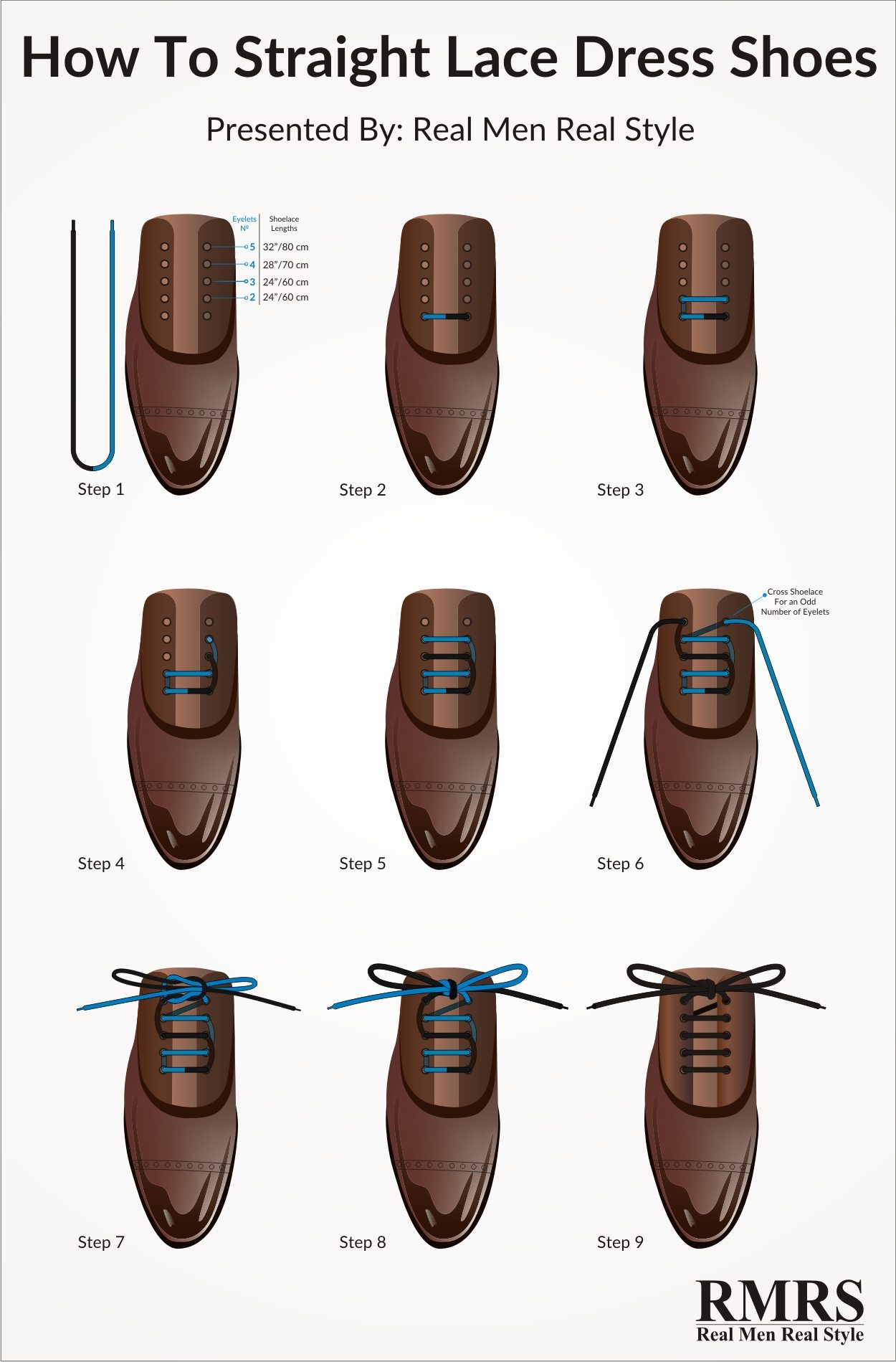 How To Straight Lace Your Dress Shoes – Infographic