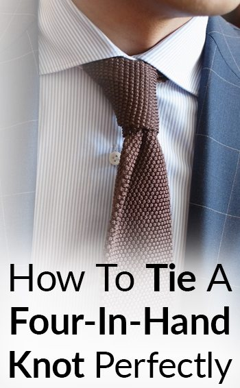 How to tie a necktie the four in hand knot easily tie four in hand ccuart Image collections