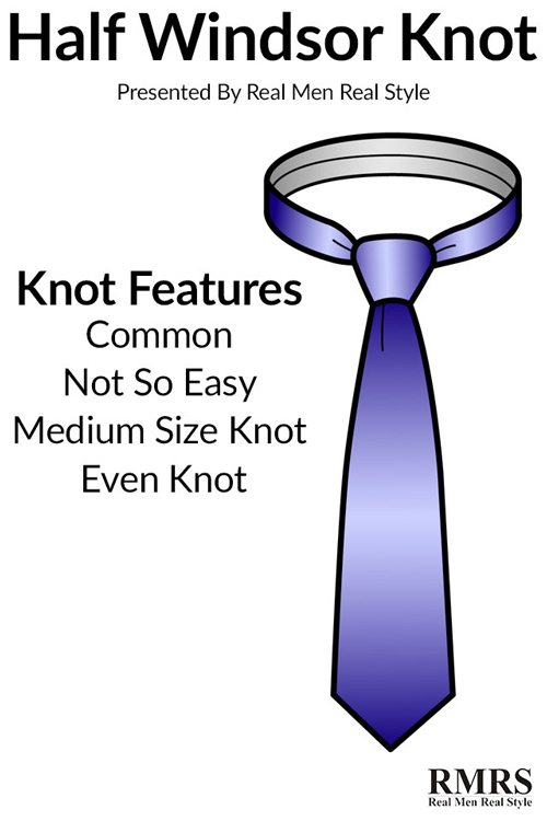 How to tie a necktie the half windsor knot ccuart Choice Image