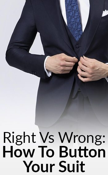 Suit Buttoning Rules For Men | Right Vs Wrong Way To Button Your Blazer | How To Wear Your Single-Breasted & Double-Breasted Suits