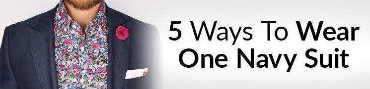 5 Outfits ONE Navy Suit | KILLER Looks From Classic Menswear | Creative Suit Style | Business Casual
