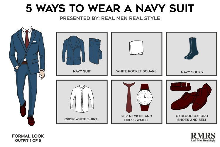 5 Outfits One Navy Suit Killer Looks From Classic Menswear