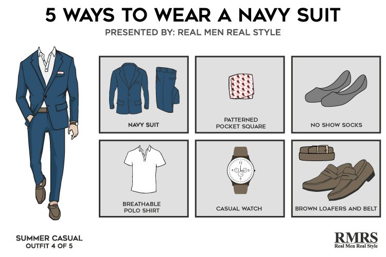 5 Outfits ONE Navy Suit