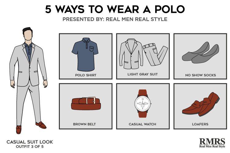 light gray suit brown shoes socks style guru fashion