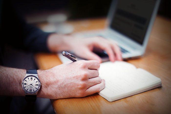 man-writing