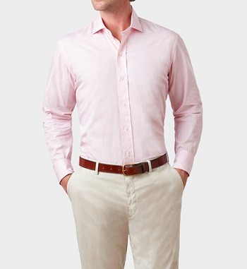White blue and pink dress shirts