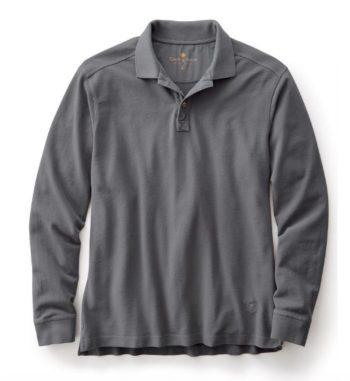 gray-long-sleeve-polo-shirt