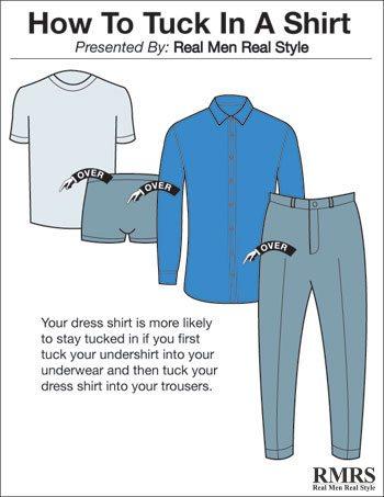 a07c48b5d9e 4 Ways To Tuck In A Dress Shirt
