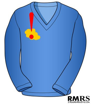 sweater wtih stain
