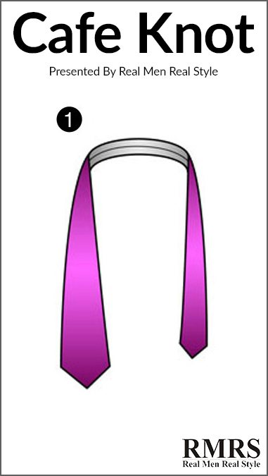 How to tie the cafe knot tying a tie tutorial how to tie a tie the cafe knot step 2 ccuart Choice Image