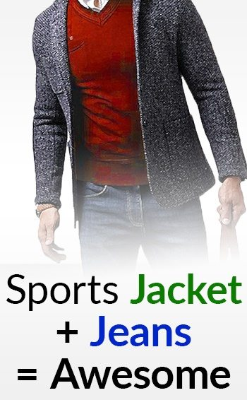 How To Wear A Sports Jacket With Jeans | Matching Denim And A ...