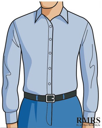 blue-dress-shirt-with-trousers