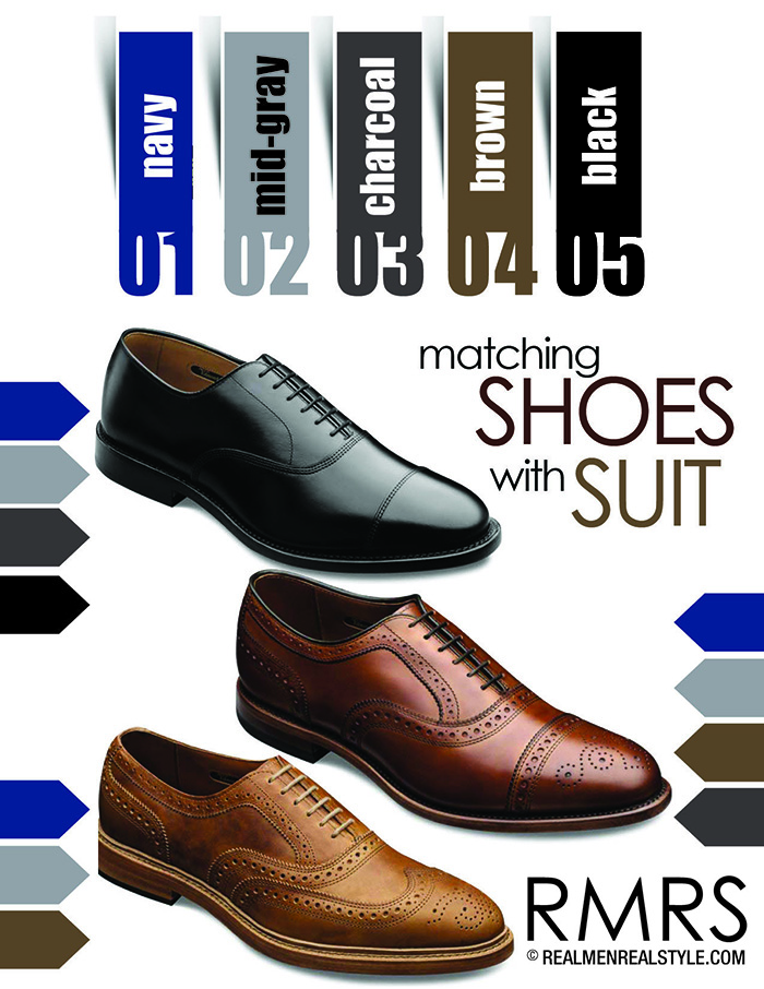 Matching Dress Shoes And Suits | How To Match A Shoe With Any Suit ...