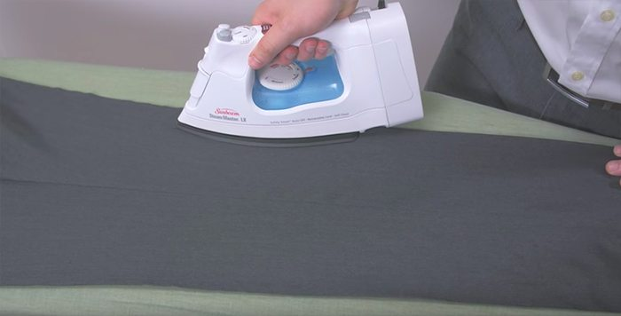 ironing trousers