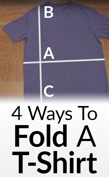 0c22b63bf How To Fold T-Shirts In Under 3 Seconds | T Shirt Folding Tips | 4 ...