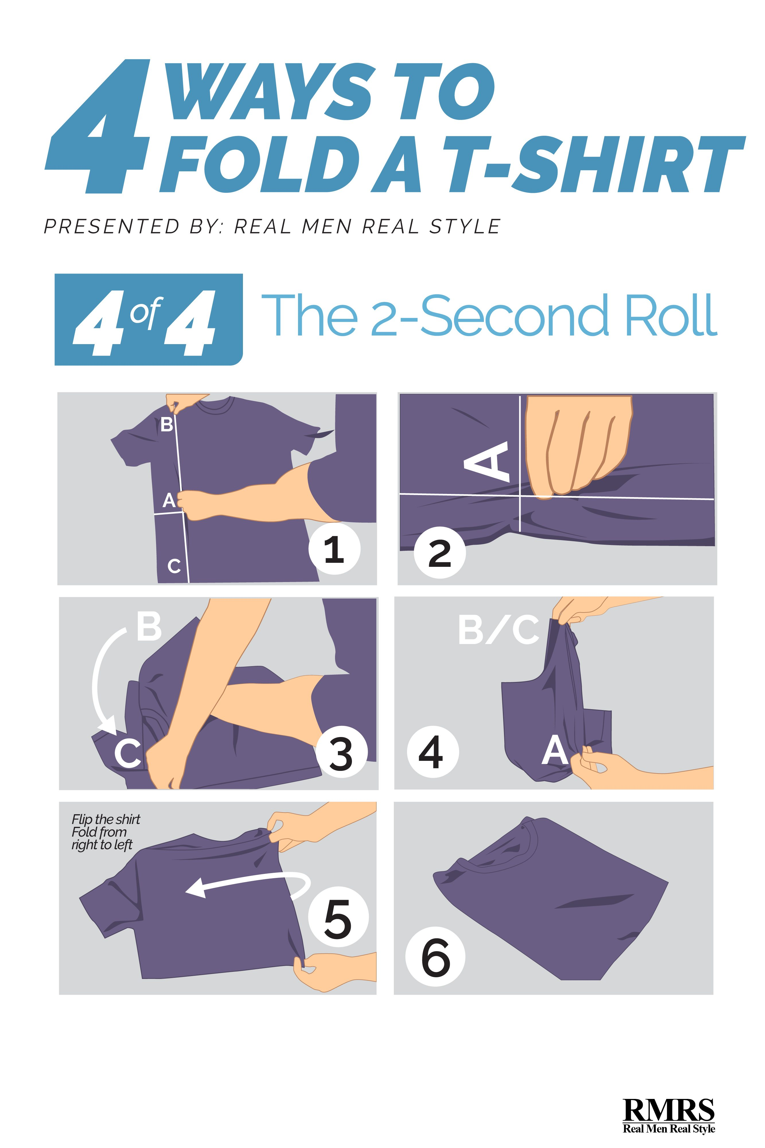 How to fold a T Shirt