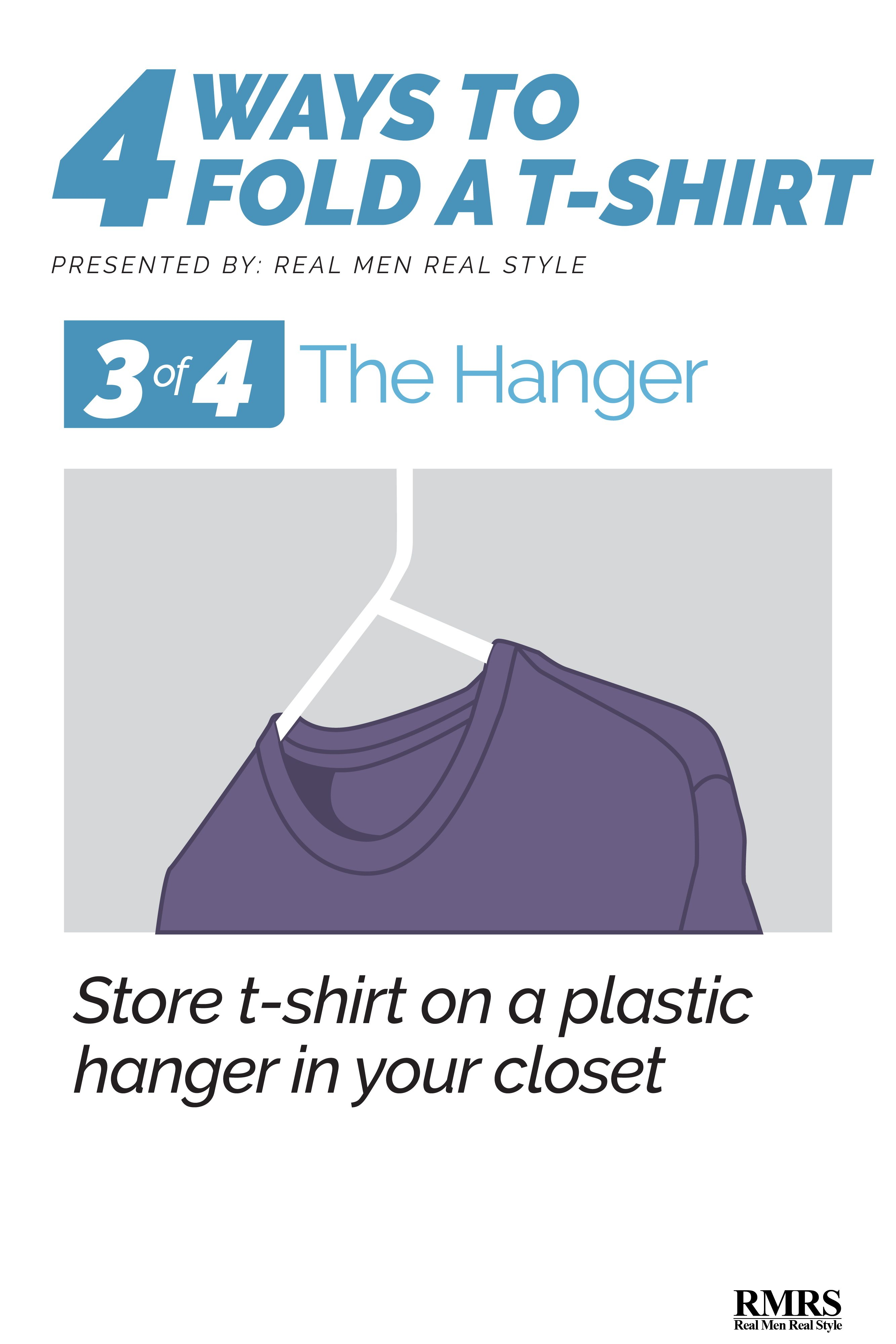 Best way to fold clothes for a trip - Folding T Shirts Hanger