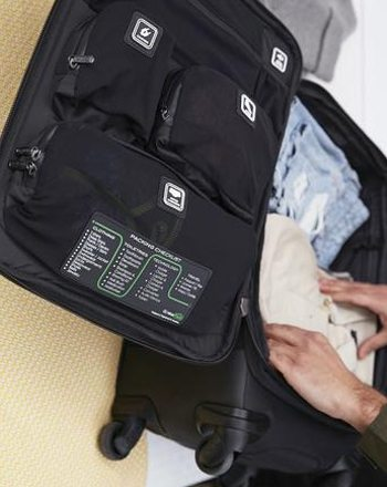Genius Pack luggage carry on multiple pouches