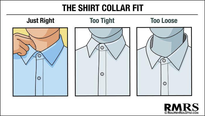 how mens dress shirt should fit collar