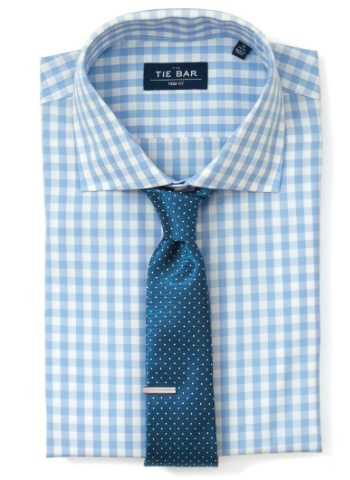 pindot-tie-gingham-shirt