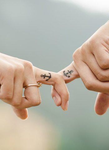 couple-matching-anchor-tattoos