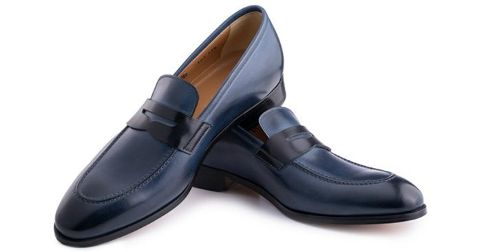 ace marks loafers dress shoes blue