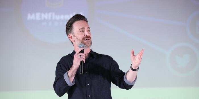 man giving a speech