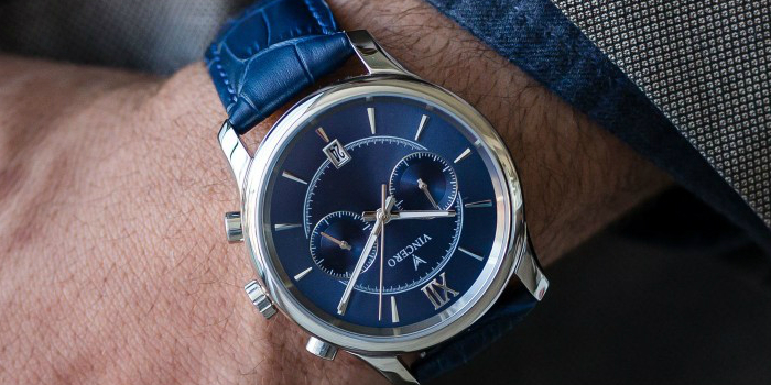 vincero watch blue