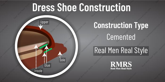 glued welt construction for men's dress shoes