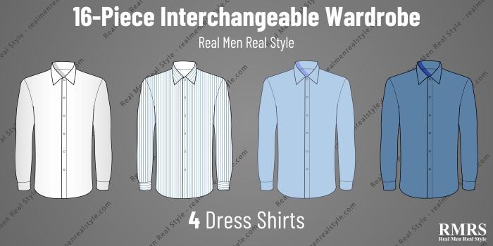 interchangeable wardrobe - shirts
