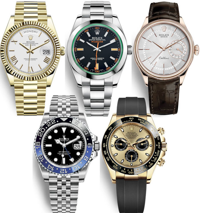 rolex watches collage