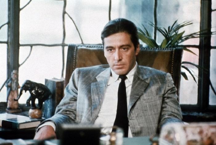 the godfather michael corleone in a suit