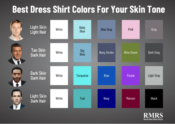 best shirt colors for skin tone