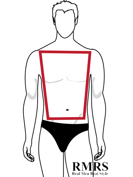 Shape masculine body The IDEAL
